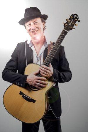 Portrait mit Gitarre und Hut